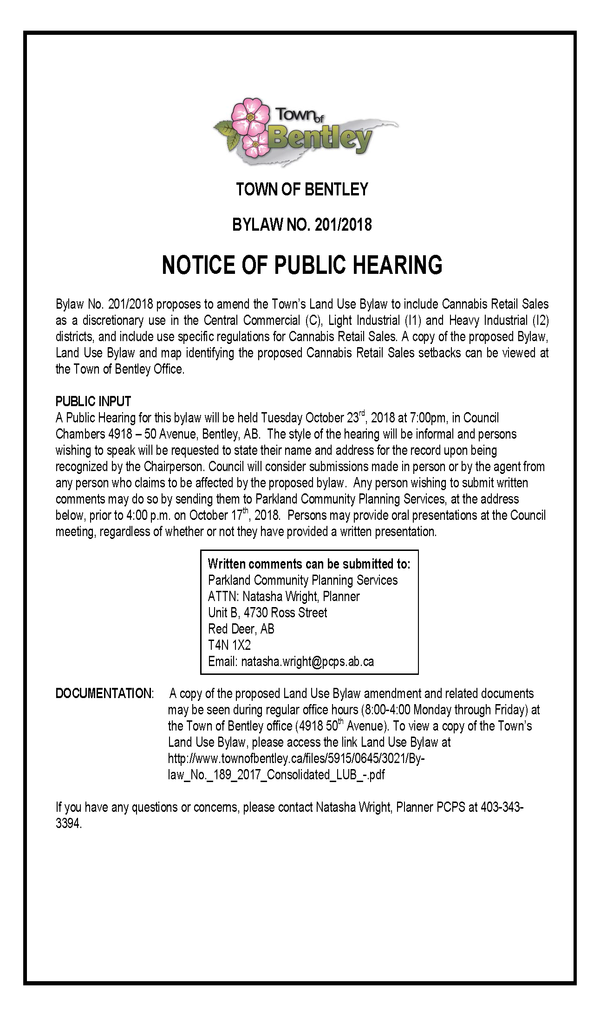 Newspaper AD   Public Hearing Cannabis.png